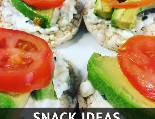 Snack Ideas: Rice Cakes with Avocado & Cottage Cheese